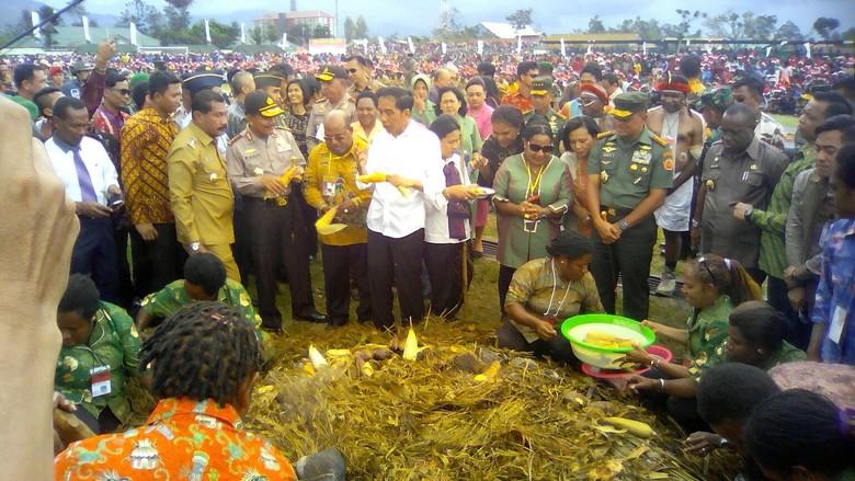Bahagianya Warga Wamena Papua Bertemu Jokowi