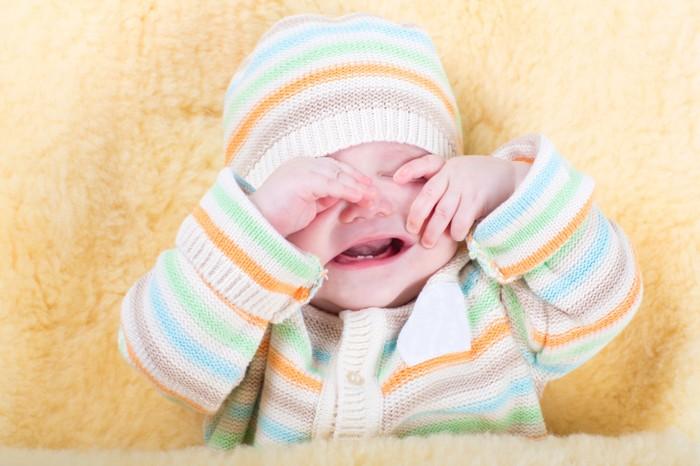 Ilustrasi bayi sedang menangis