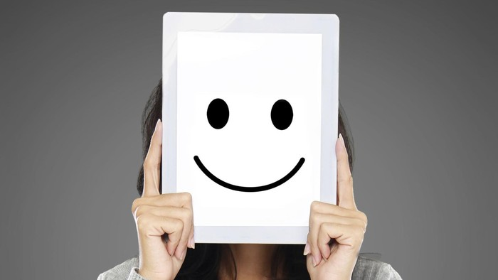 woman showing happy expression icon
