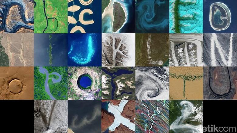 Fenomena Menarik di Bumi yang Membentuk Huruf A Sampai Z