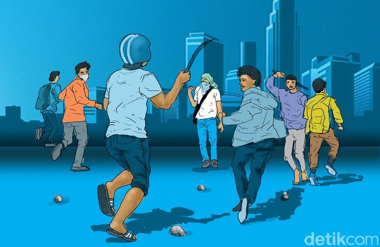Del Piero Tewas Akibat Tawuran Pelajar di Kampung Makasar Jaktim