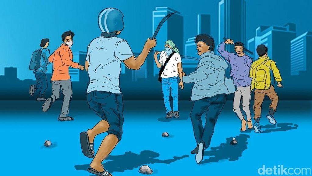 Cerita Kode Tawuran Pelajar di Sukabumi Berujung 1 Orang Tewas