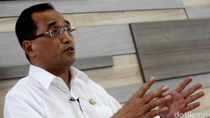 Direktur Utama Angkasa Pura II Budi Karya Sumadi. Hasan Al Habshy/detikFoto.