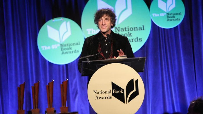 NEW YORK, NY - NOVEMBER 19:  Neil Gaiman attends 2014 National Book Awards on November 19, 2014 in New York City.  (Photo by Robin Marchant/Getty Images)
