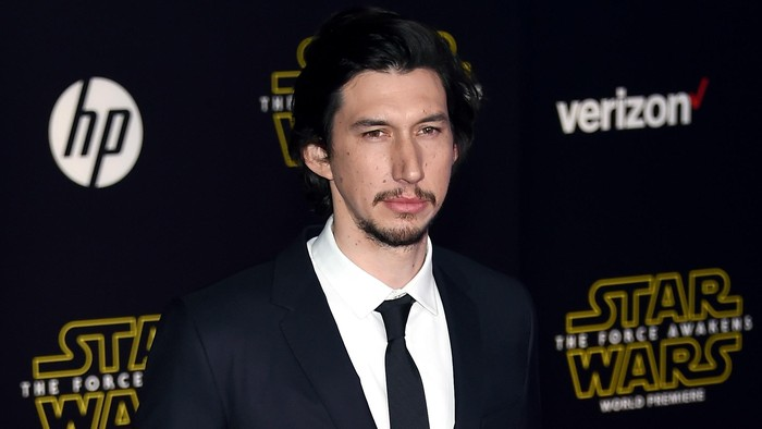 HOLLYWOOD, CA - DECEMBER 14:  Actor Adam Driver attends the premiere of Walt Disney Pictures and Lucasfilms Star Wars: The Force Awakens at the Dolby Theatre on December 14, 2015 in Hollywood, California.  (Photo by Ethan Miller/Getty Images)