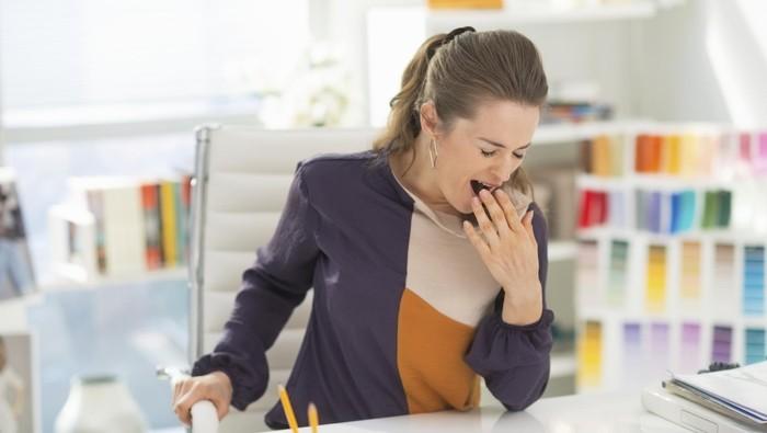 Ilustrasi ngantuk di tempat kerja. Foto: thinkstock