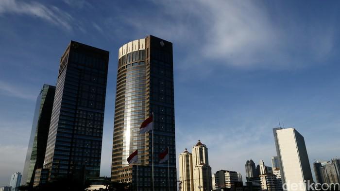 Gedung perkantoran bertingkat di Jakarta. dikhy sasra/ilustrasi/detikfoto