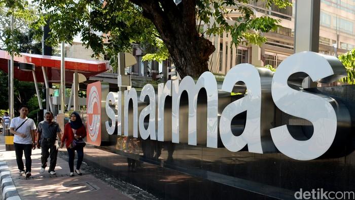 Logo Sinarmas di Jl Thamrin