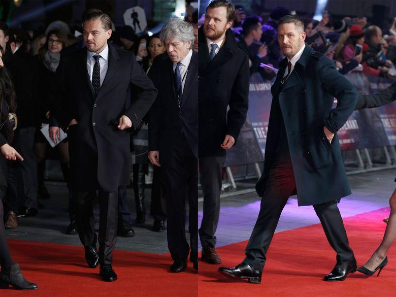 Penampilan Leo dan Tom di premiere film The Revenant di Empire Leicester Square, London, Inggris, Kamis (14/1/2016) waktu setempat. John Phillips/Getty Images/detikFoto.