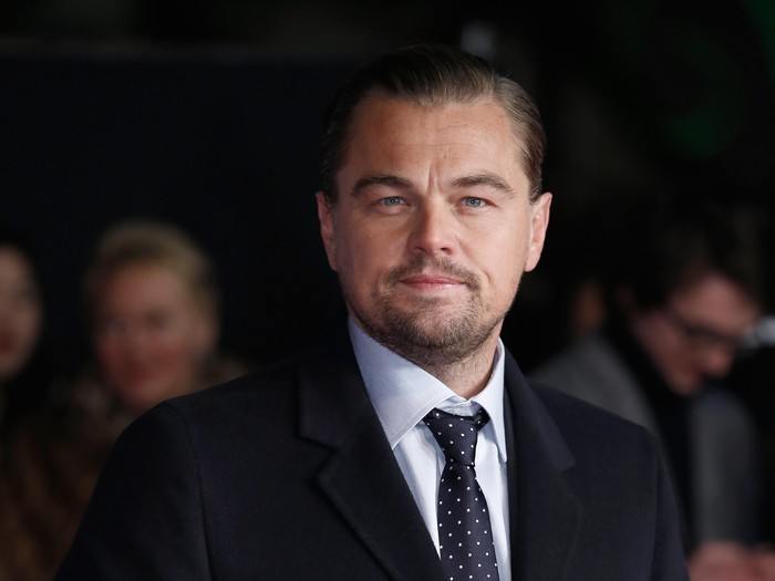 LONDON, ENGLAND - JANUARY 14:  Actor Leonardo DiCaprio attends UK Premiere of The Revenant at Empire Leicester Square on January 14, 2016 in London, England.  (Photo by John Phillips/Getty Images)