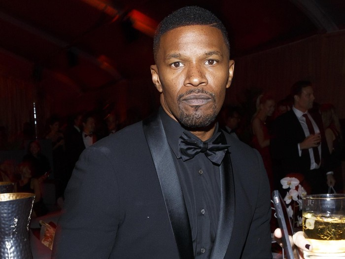 BEVERLY HILLS, CA - JANUARY 10:  Actor Jamie Foxx attends The Weinstein Company and Netflix Golden Globe Party, presented with DeLeon Tequila, Laura Mercier, Lindt Chocolate, Marie Claire and Hearts On Fire at The Beverly Hilton Hotel on January 10, 2016 in Beverly Hills, California.  (Photo by Rich Polk/Getty Images for The Weinstein Company)