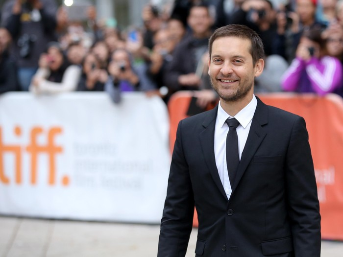 TORONTO, ON - SEPTEMBER 11:  Actor/producer Tobey Maguire attends the Pawn Sacrifice premiere during the 2014 Toronto International Film Festival at Roy Thomson Hall on September 11, 2014 in Toronto, Canada.  (Photo by Jemal Countess/Getty Images)