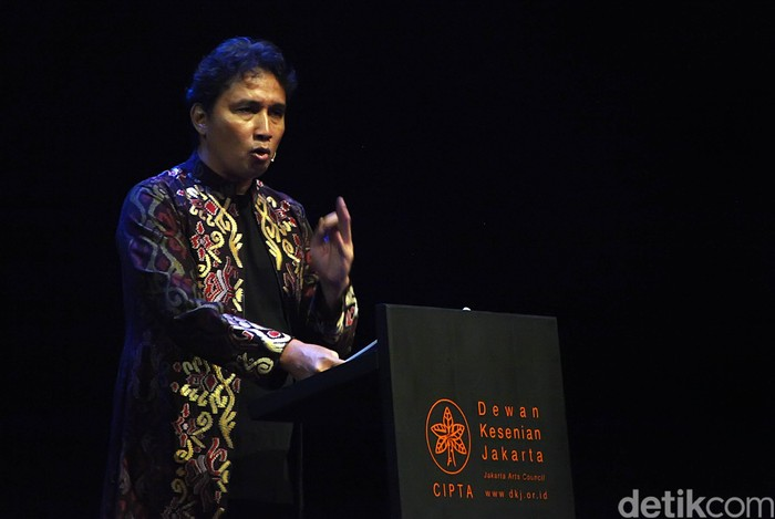 Dirjen Kebudayaan Kemendikbud Hilmar Faird. Foto diambil saat ia belum menjadi Dirjen dalam sebuah acara di TIM, November 2014.