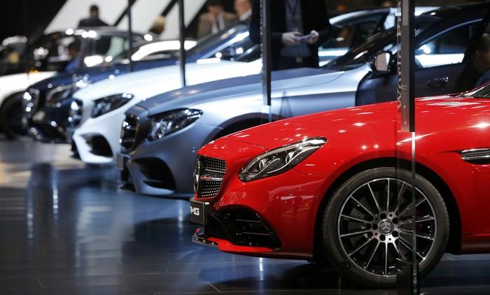 Mercedes-AMG SLC43 dipamerkan di Detroit Motor Show