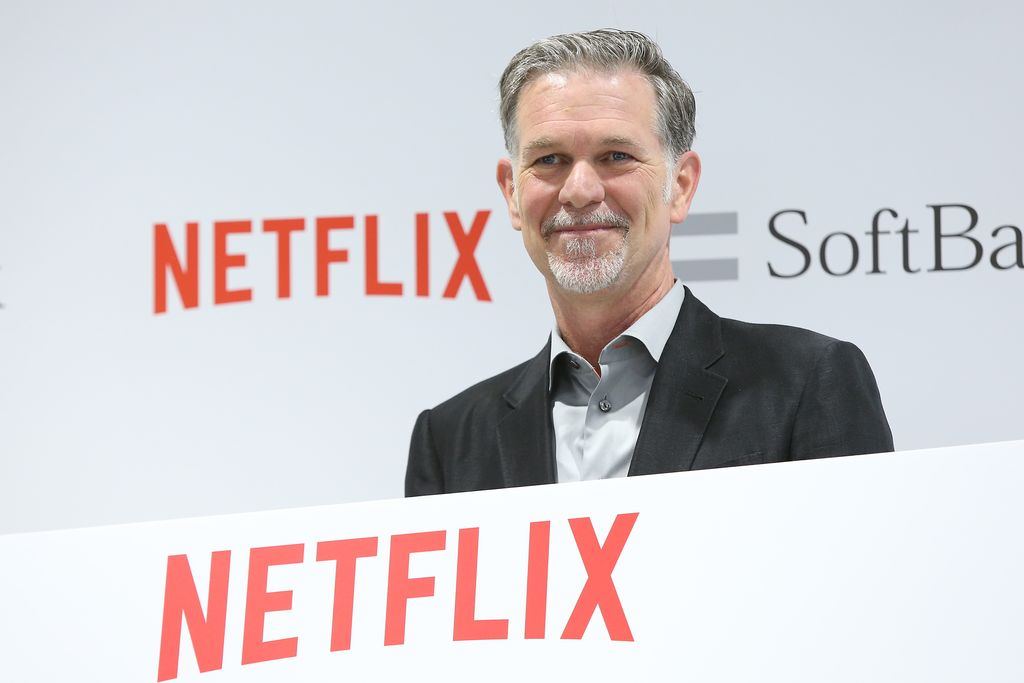 TOKYO, JAPAN - SEPTEMBER 02:  Reed Hastings, founder and CEO of Netflix Inc. attends the launch event for Netflix service in Japan at SoftBank Ginza store on September 2, 2015 in Tokyo, Japan. Netflix Inc. partnered with Japan's SoftBank Group Corp. for the Japan launch of its video-streaming service on September 2, 2015.  (Photo by Ken Ishii/Getty Images)