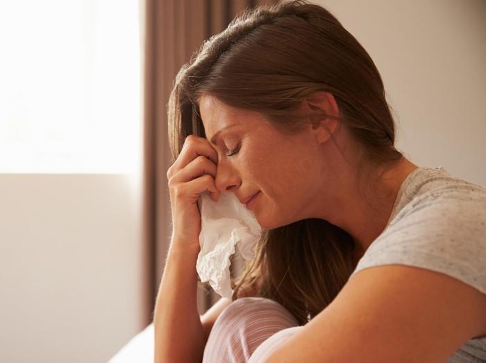 Ilustrasi wanita menangis/Foto: Thinkstock