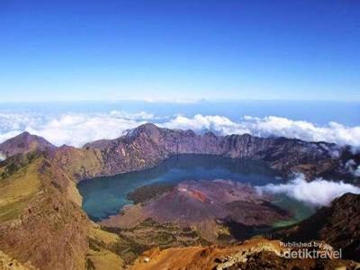 Gunung Rinjani Tutup Karena Corona