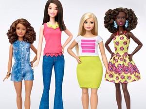 Mattel Rilis Barbie Bertubuh Tinggi dan Montok di 2016