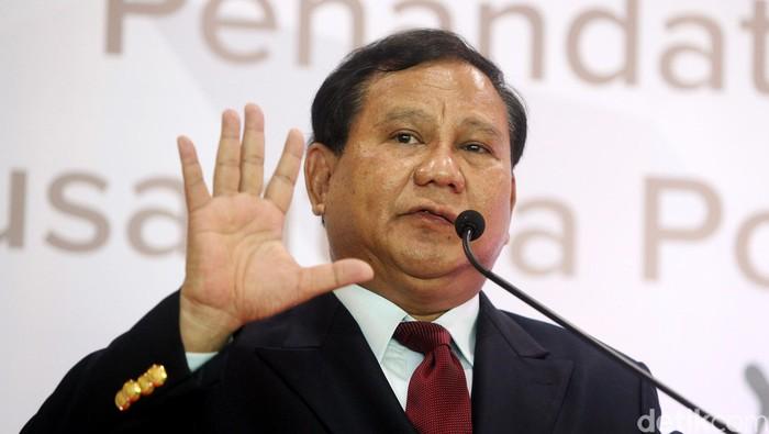 Ketua Umum partai Gerindra Prabowo Subianto. Rengga Sancaya/detikcom.