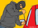 Waspada! Pencuri Modus Pecah Kaca Mobil Keliaran di Sukabumi