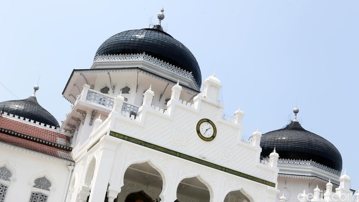Kubah Masjid Raya Baitul Rahman. dikhy sasra/ilustrasi/detikfoto