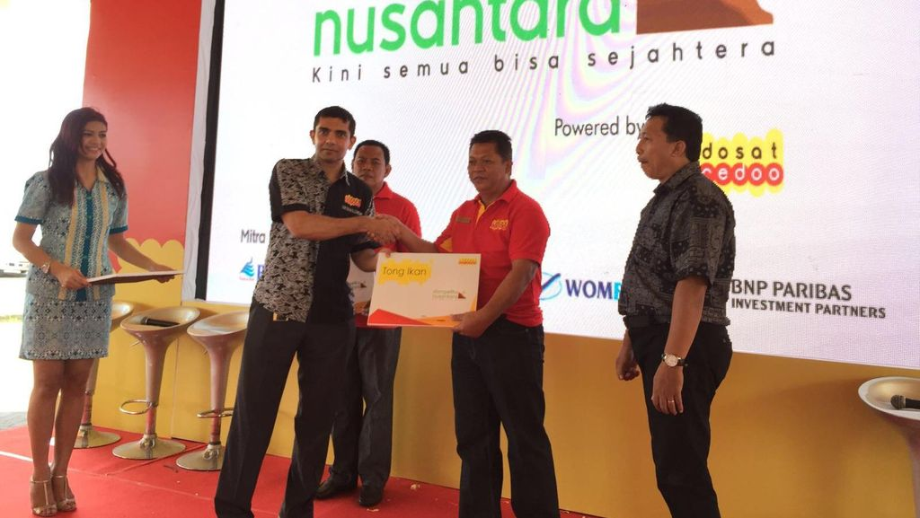 Dompetku Nusantara merupakan layanan yang nantinya akan mencakup empat hal yang bisa dilakukan pelanggan lewat ponsel. Foto: detikINET/Achmad Rouzni Noor Ii