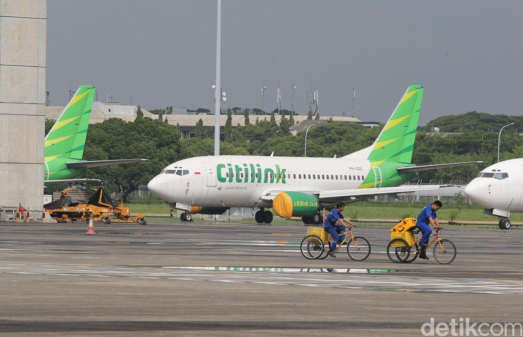 Pesawat Citilink di Bandara Soekarno Hatta