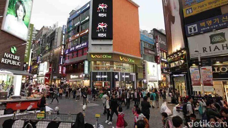 Myeongdong di Korea Selatan (Ari/detikcom)