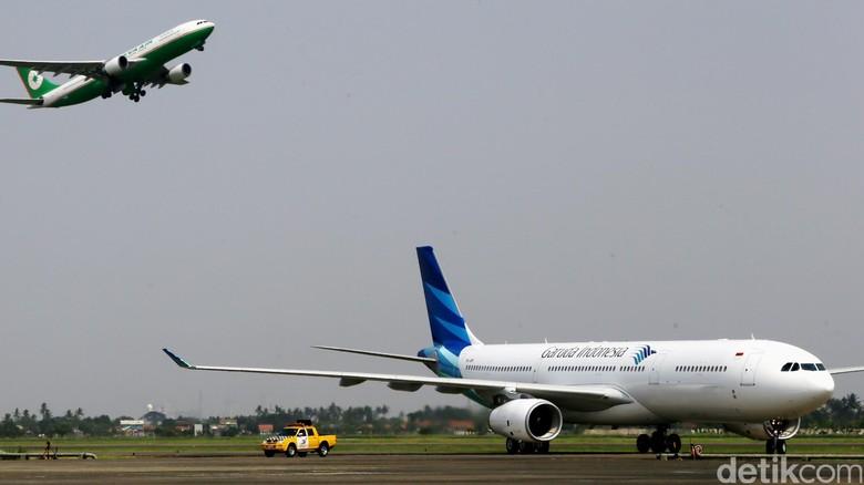 Pesawat Garuda (Dikhy Sasra/detikcom)