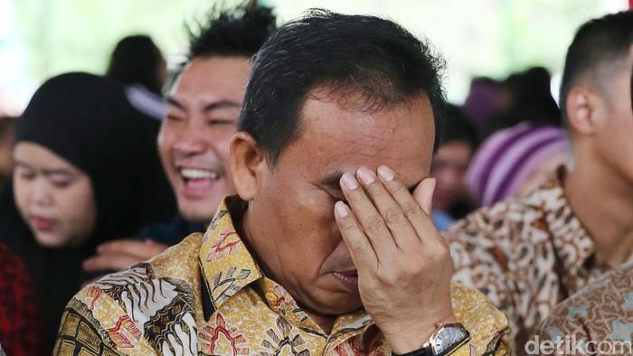 Sekretaris Daerah (Sekda) DKI Jakarta Saefullah saat peresmian RPTRA Menteng, Jakarta, Jumat (5/2/2016).