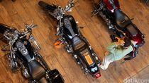 Moge Harley Iringi Konvoi Atlet Olimpiade di Jakarta