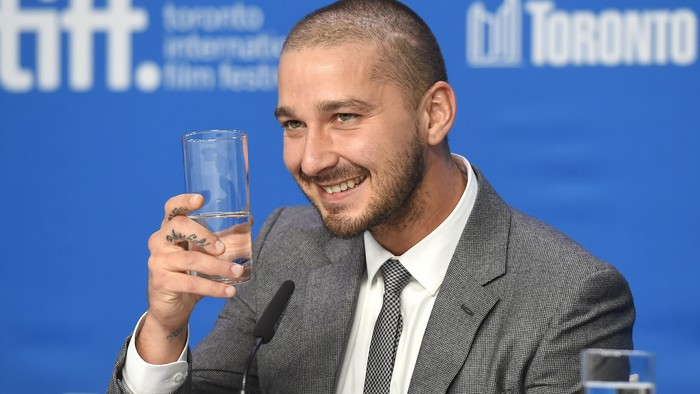 TORONTO, ON - SEPTEMBER 15:  Actor Shia LaBeouf attends the Man Down press conference at the 2015 Toronto International Film Festival at TIFF Bell Lightbox on September 15, 2015 in Toronto, Canada.  (Photo by Jason Merritt/Getty Images)
