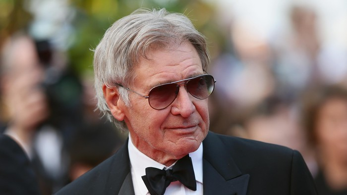 CANNES, FRANCE - MAY 18:  Harrison Ford attends The Expendables 3 premiere during the 67th Annual Cannes Film Festival on May 18, 2014 in Cannes, France.  (Photo by Vittorio Zunino Celotto/Getty Images)