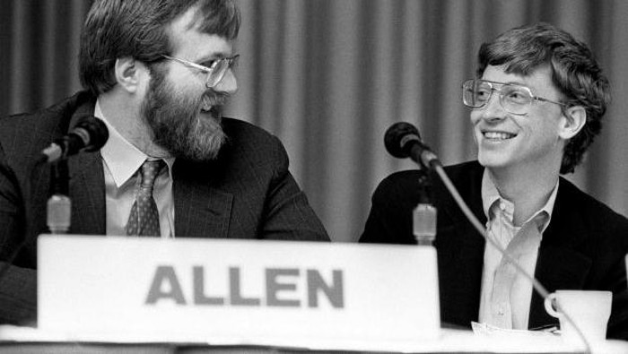 Paul Allen dan Bill Gates. Foto: Internet