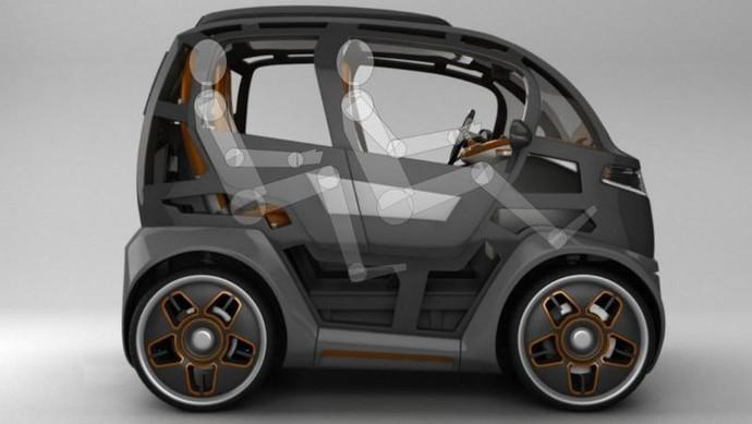Mobil bernama Mirrow Provocator itu seukuran mobil miungil Smart For Two. Pool (worldcarfans).