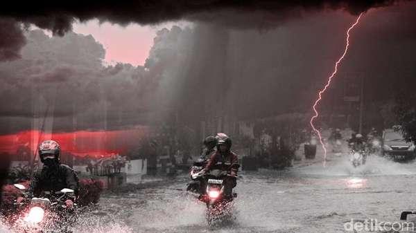 BMKG: Waspadai Hujan dan Angin Kencang di Jabodetabek Sore Hari