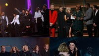 Persembahan khusus untuk Lionel Richie pada malam Grammy Awards 2016 dilakukan oleh John Legend, Demi Lovato, Luke Bryan, Meghan Trainor, dan Tyrese Gibson. Selain itu, malam Grammy 2016 juga menyajikan banyak penghormatan kepada musisi yang telah meninggal dunia. Hal ini yang dilakukan oleh sederet musisi yang hadir. REUTERS/Mario Anzuoni/detikFoto; Kevork Djansezian/Getty Images/detikFoto.