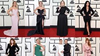 Sederet selebriti lainnya di red carpet. Jason Merritt/Getty Images for NARAS/detikFoto.