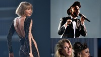Taylor Swift, The Weeknd, Ellie Goulding dan Andra Day memanaskan panggung Grammy 2016. Kevork Djansezian/Getty Images/detikFoto.