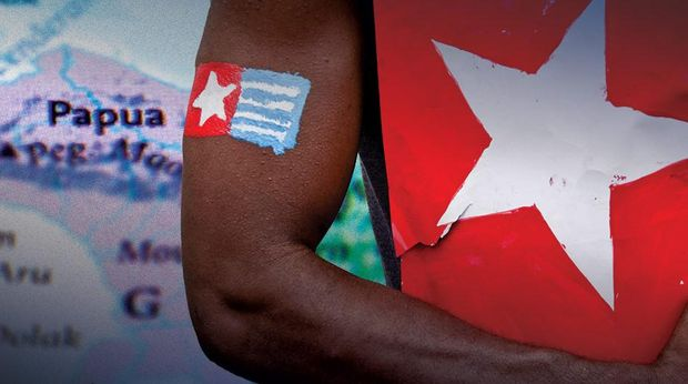 Ilustrasi sparatisme di Papua.