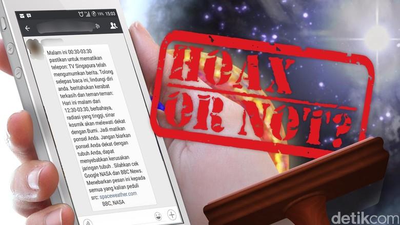 Pesan Berantai Bahaya Sinar Kosmik yang Melewati Bumi Malam Hari