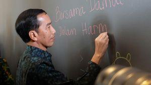 Coretan Damai Jokowi di Dinding Markas Facebook