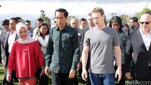 Tiba di Markas Facebook, Jokowi Disambut Mark Zuckerberg