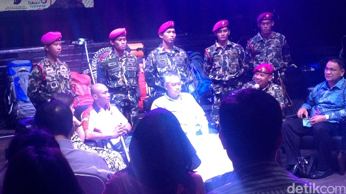 Foto: Sabar Gorky, TNI AL dan Tommy Winata saat jumpa pers (Ray Jordan/detikcom)