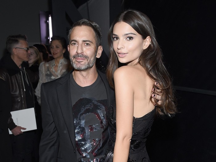 NEW YORK, NY - FEBRUARY 18:  Desiger Marc Jacobs and model Emily Ratajkowski attend the Marc Jacobs Fall 2016 fashion show during New York Fashion Week at Park Avenue Armory on February 18, 2016 in New York City.  (Photo by Dimitrios Kambouris/Getty Images for Marc Jacobs)
