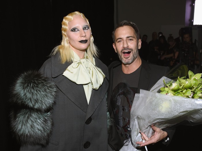 NEW YORK, NY - FEBRUARY 18:  Singer-songwriter Lady Gaga and designer Marc Jacobs pose backstage at Marc Jacobs Fall 2016 fashion show during new York Fashion Week at Park Avenue Armory on February 18, 2016 in New York City.  (Photo by Dimitrios Kambouris/Getty Images for Marc Jacobs)