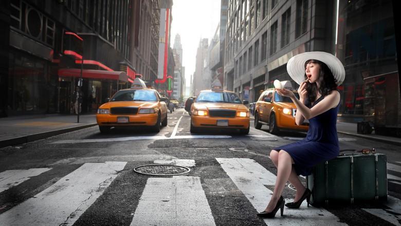 Ilustrasi taksi bersama model Foto: Thinkstock