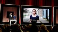Saoirse Ronan dengan film Brooklyn masuk ke jajaran Aktris Wanita Terbaik di Oscar 2016. Kevin Winter/Getty Images/detikFoto.