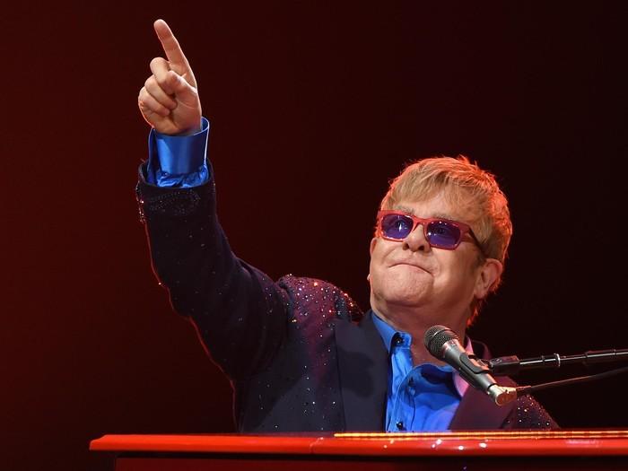 Elton John akan tampil di Pernikahan Pangeran Harry dan Meghan Markle. Foto: Larry Busacca