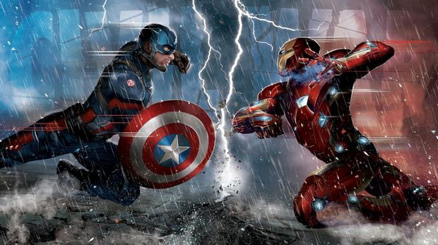 Captain America dan Iron Man di Civil War